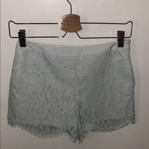 Ted Baker London Blue Lace Floral Azaria Shorts